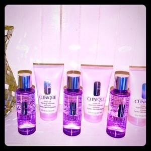"""3 of each Clinique: Cleanser"""" & Make-Up Remover."""""""